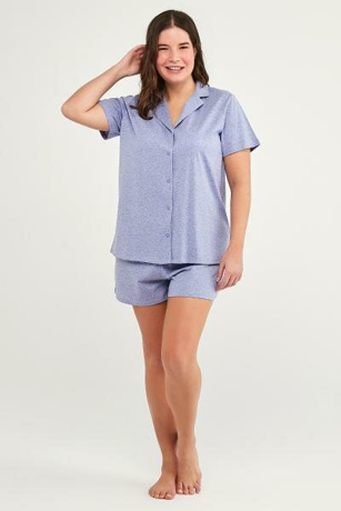 Picture of VIOLET DOTTED SS PYJAMA T-SHIRT AND SHORTS SET