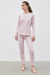 Picture of RELAX LILAC DETAILS RIB PANT SET